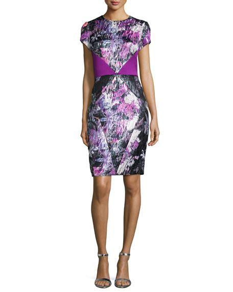 Sleeve Sheath Cocktail Dress theia cap sleeve floral sheath cocktail dress