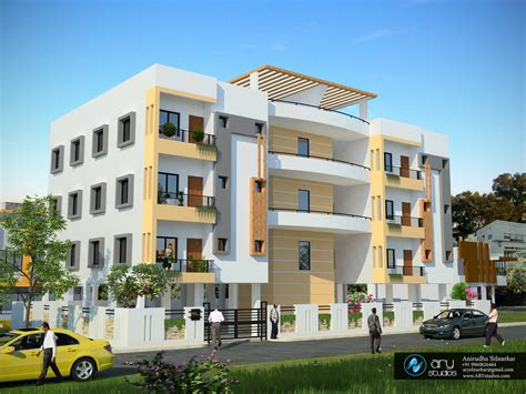 3d apartment building elevation done by ary studios arystudios 3d exterior architectural rendering apartment building