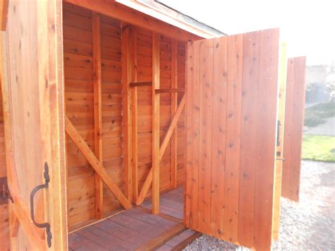 ana white double wide cedar fence picket storage shed