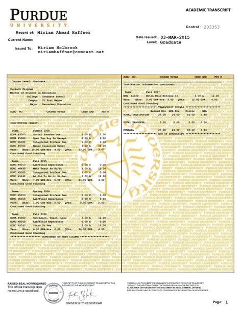 Wayne State College Mba Grading Scale by Purdue Transcript