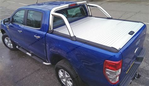 mountain top roll aluminium roller shutter tonneau cover ford ranger  double cab  country