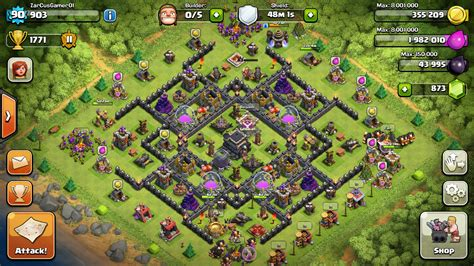 coc layout hybrid best clash of clans town hall 9 hybrid base layout