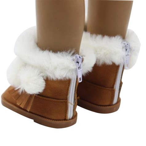 American Handmade Shoes - handmade fashion plush winter boots shoes for 18inch