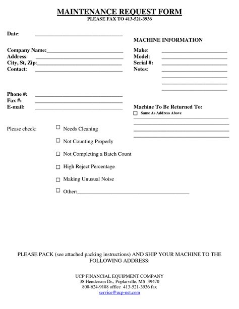 best photos of equipment maintenance form template