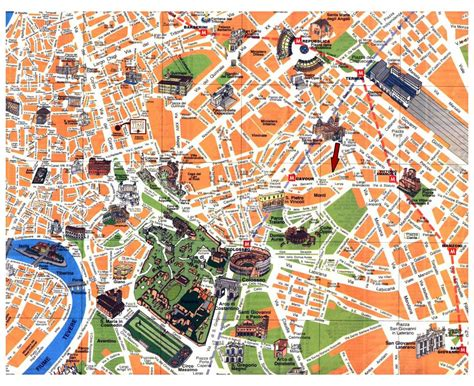 rome map tourist attractions maps of rome detailed map of rome in tourist