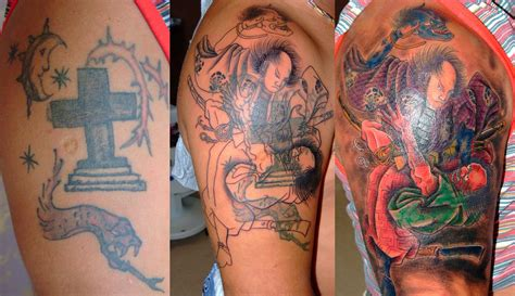 tattoo cover up ideas for arm samurai in fight cover up arm tattoo design tattoomagz