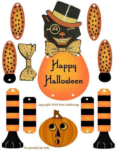 Michaels Fall Decor Crafty In Crosby Vintage Halloween Cat Paper Doll