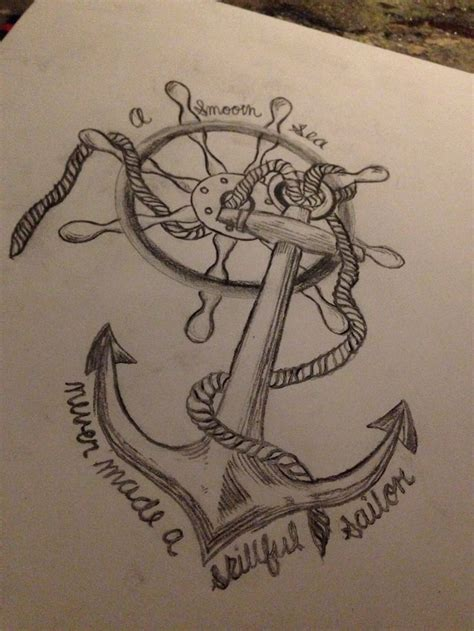 sailor love tattoo quotes quotesgram tattoo anchor wheel quote love a soft sea never made a