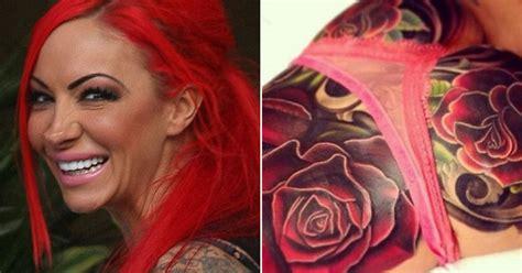 jodie marsh  cheryl coles bum tattoo   step