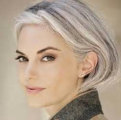 grayhair conservative style hpaircut women are opting to go grey in their 30 s it works