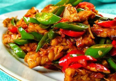 Sambal Ijo Teri Sambel Cabe Hijau Pedas Halal cara membuat orek tempe enak pedas cabai hijau resep dan