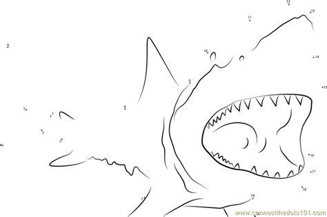 free printable dot to dot shark shark underwater dot to dot printable worksheet connect
