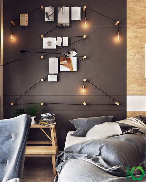 Creative Bedroom Lighting A Charming Nordic Apartment Interior Design By Koj Design Roohome Designs Plans
