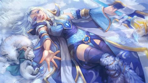 dota 2 rylai wallpaper rylai the crystal maiden oriental snow dota 2 wallpapers