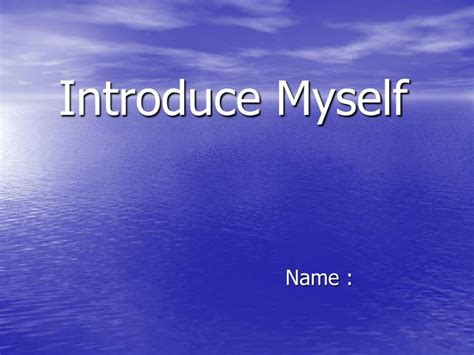 Ppt Introduce Myself Powerpoint Presentation Id 165362 Introduce Yourself Ppt