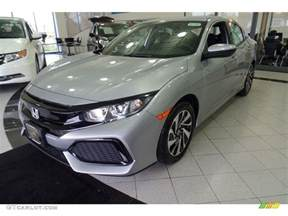 2017 lunar silver metallic honda civic lx hatchback