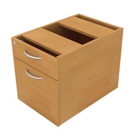 fixed pedestal 2 drawer