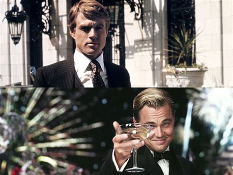 el gran gatsby the side swept hairstyle with robert redford as the great gatsby