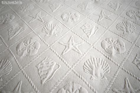 Starfish Upholstery Fabric seashell fabric trellis starfish sand dollar