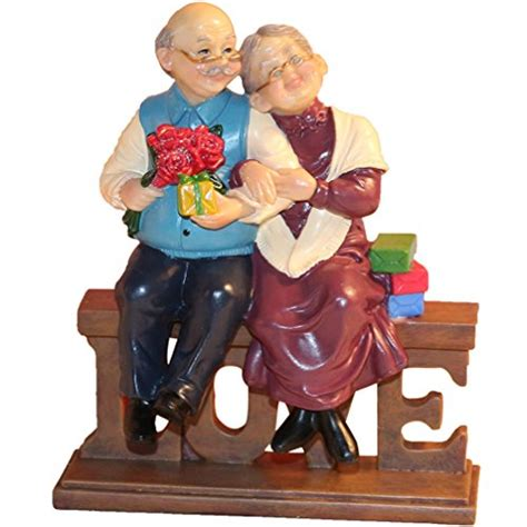 gift card ideas for the elderly dreamseden loving elderly figurines age resin home decoration with gift card
