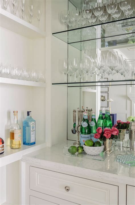 wet bar glass shelves design ideas