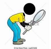 Stock De Ilustraciones Inspecci&243n  Silhouette Man