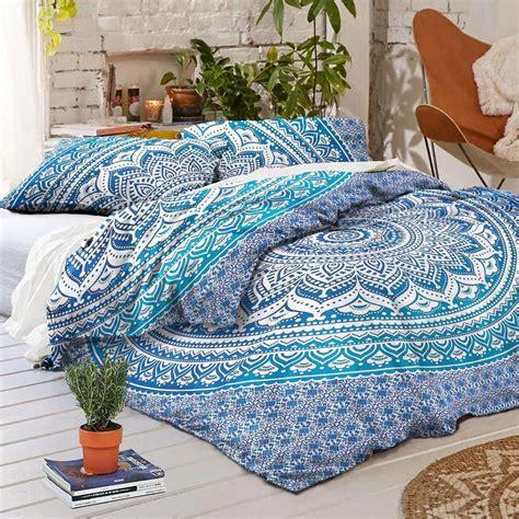 blue bohemian bedding dhara bedding duvet cover set bohemian boho mandala blue