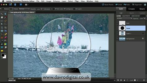 snow globe templates for photoshop photoshop elements snow globe video1 youtube
