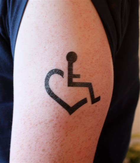 Tattoo Of Us Wheelchair | large wheelchair heart temporary tattoos by tattoos 3e
