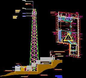 tower  telecommunications dwg section  autocad