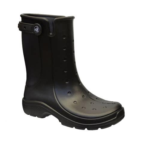 crocs boots crocs crocs reny ii black z 28 16010 wellie mens