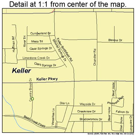 keller texas street map 4838632