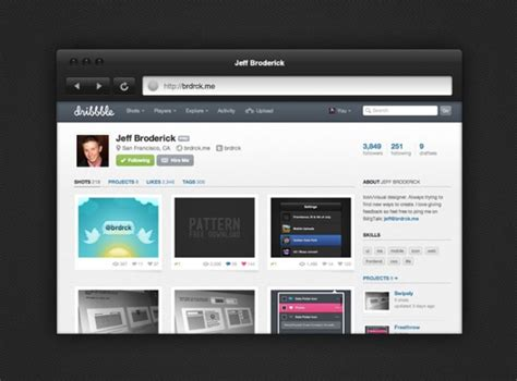 layout editor chrome dark sexy browser chrome psd file free download