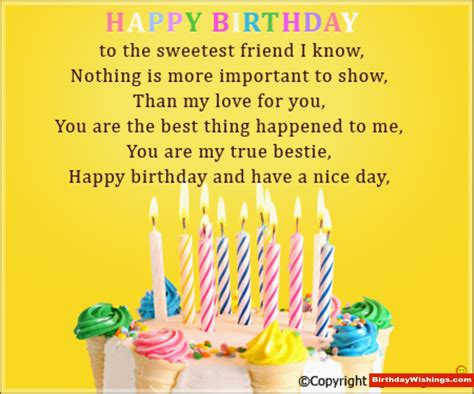 Birthday Card Poems For birthday poem for sweet friend birthdaywishings
