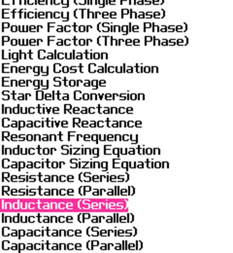 capacitive reactance series parallel blackberry education my electrical calculator for blackberry