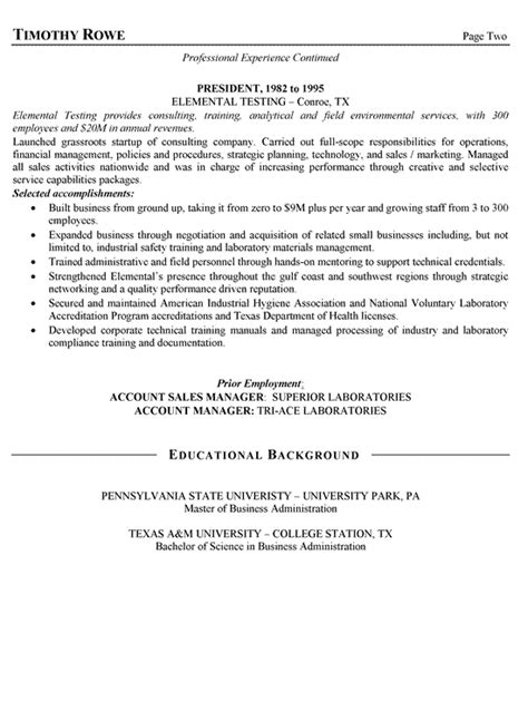 Client Executive Sle Resume by Sales Manager Resume Exle