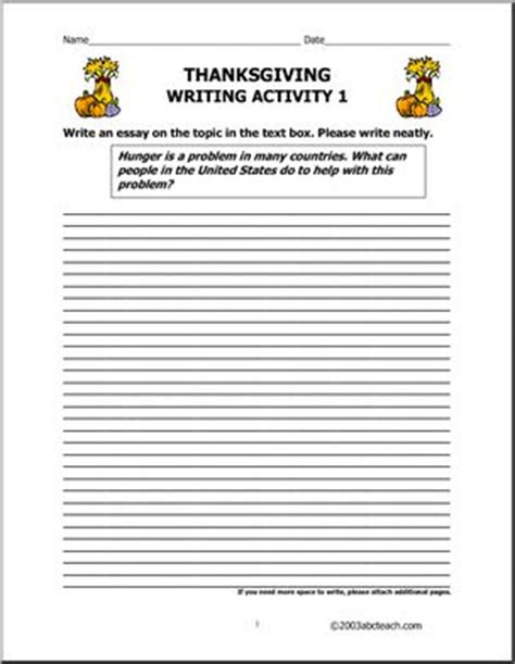 printable writing paper upper elementary thanksgiving upper elementary writing prompts i abcteach