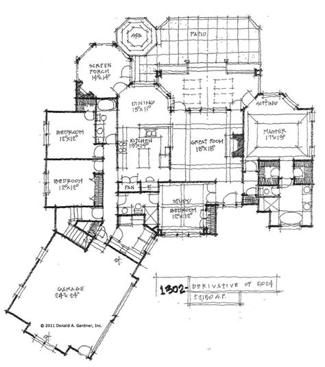 Side Garage Floor Plans | house plan with side garage house design plans