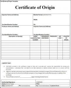 Muster Word Origin Free Certificate Of Origin Template Free Word S Templates