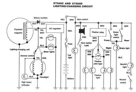 xt500 1978 wiring diagram free wiring diagrams