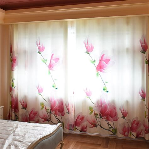 White Floral Curtains White Floral Beautiful Insulated Wide Curtains