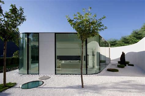 house design glass modern modern house with polygonal shaped glass pavilion lake