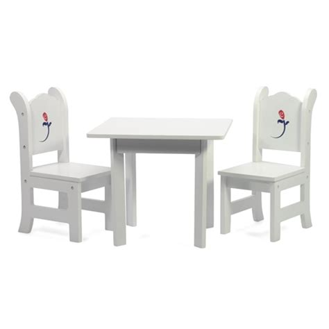18 doll furniture table and chairs 18 inch doll furniture white table with chairs and