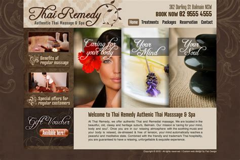 Small Graphic Design Business From Home Website Design For Kratiam Thai Remedy Massage Gt Fab Web