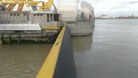 Thames Barrier London Flooding | parts of london under water after the river thames bursts