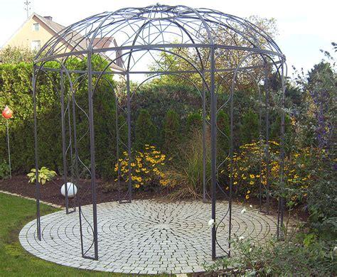 pavillon metall rund metall pavillon affordable mendler pergola granada x m