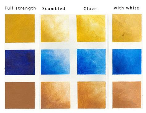 acrylic paint definition painting tutorial glazing and scumbling
