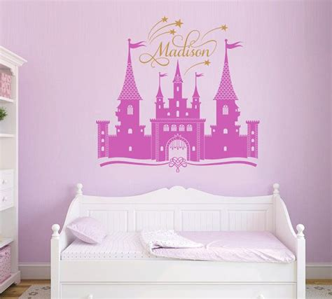 50 princess castle personalized custom name wall decal