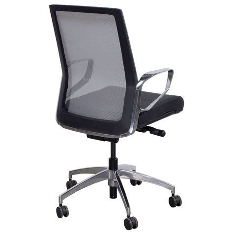grey leather conference chairs maris by gosit leather and mesh conference chair black