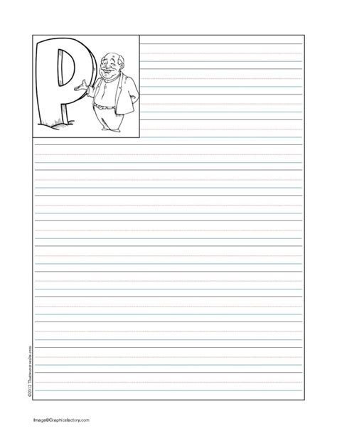 printable interlined paper letter p catholic alphabet writing sheets that resource site